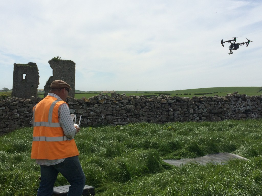 Adam from Aerial-Cam operating the quadracopter RPA