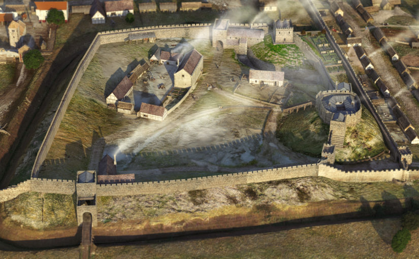 The Virtual 3-D Reconstruction of 12th-Century Lincoln Castle