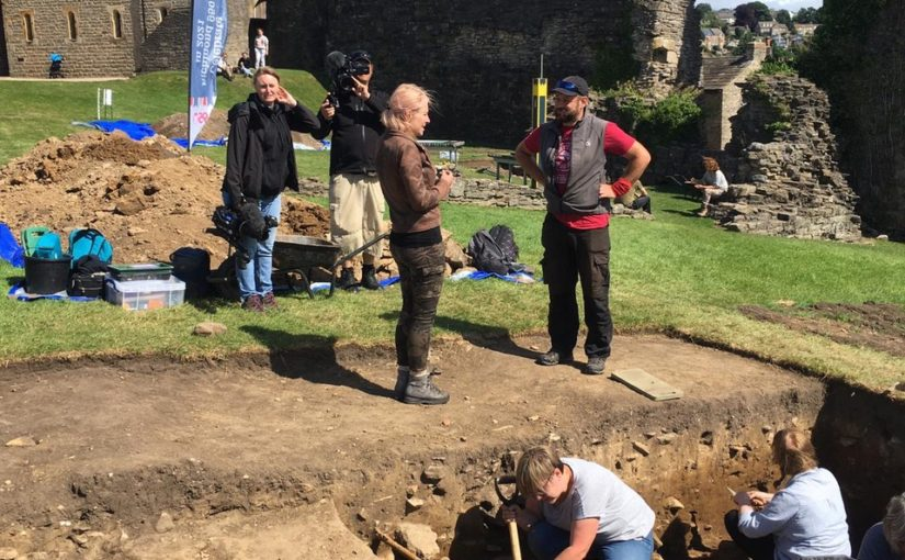 Richmond Castle Excavations Day 11: Cameras are a lucky charm!