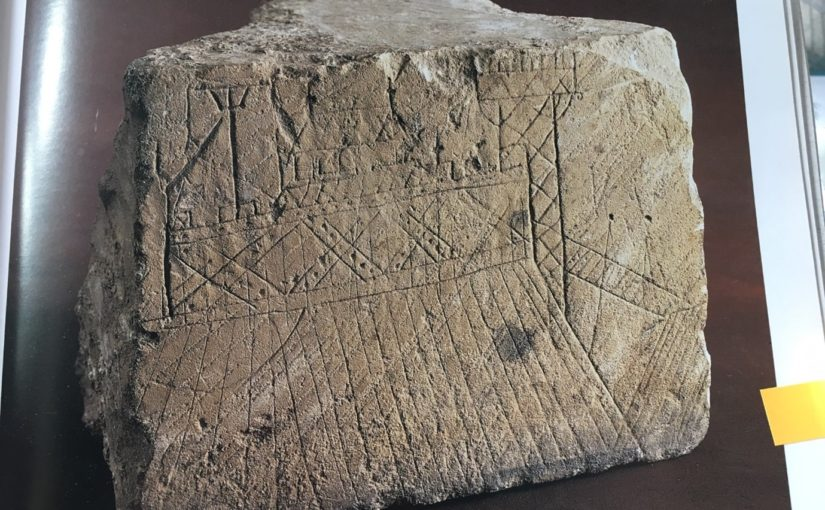 A wooden castle scratched in stone: a 13th-century graffito from the castle at Caen