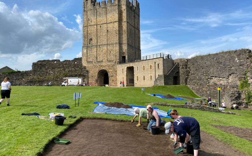 Richmond Castle Excavations Day 1: Opening Up